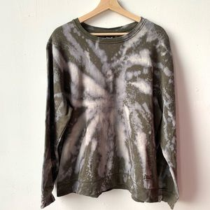Everlast custom bleached tie dyed crewneck sweater
